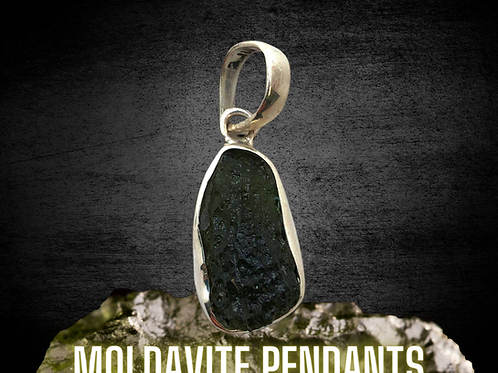 Moldavite Pendants - Large