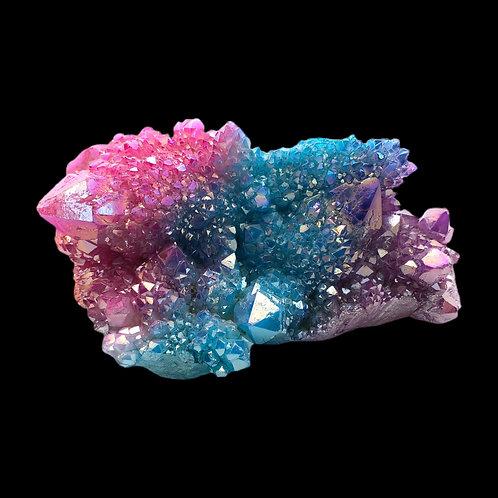 Titanium Coated Natural Quartz Cluster