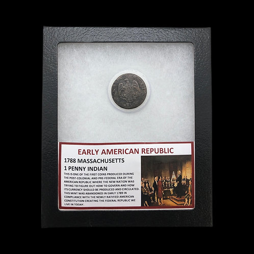 Early American Republic - 1788 Mass. 1 Penny Indian
