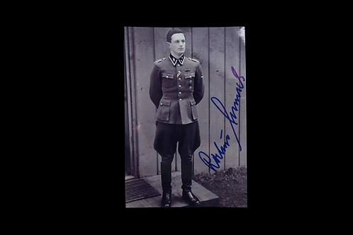 Rochus Misch (Hitler's Bodyguard)- Autographed Photo