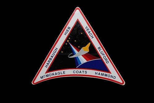 STS-39 CREW PATCH STICKER