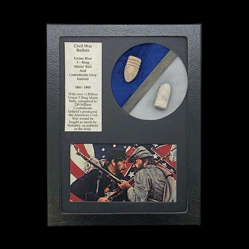Blue & Grey Civil War Bullets