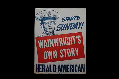 Wainwright's Story Cardboard Sign