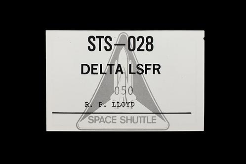 STS-028 DELTA LSFR - Pass