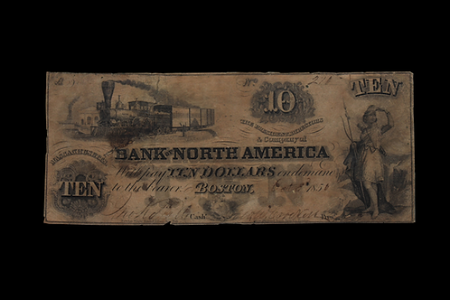 1856 Massachusetts Ten Dollar Note