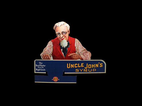 Uncle John's Syrup Sign