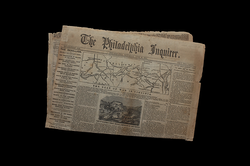 Civil War Era Newspaper - The Philadelphia Inquirer