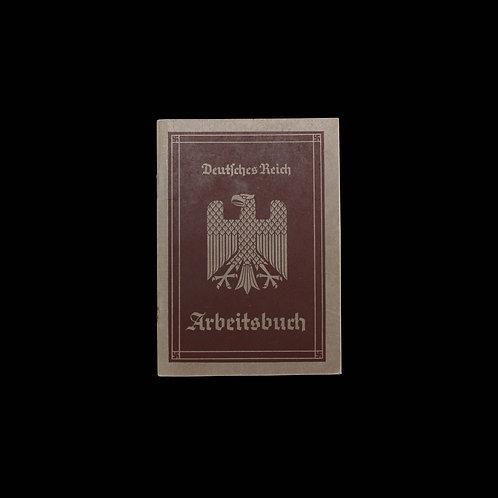 GERMAN EMPLOYEE RECORD BOOK