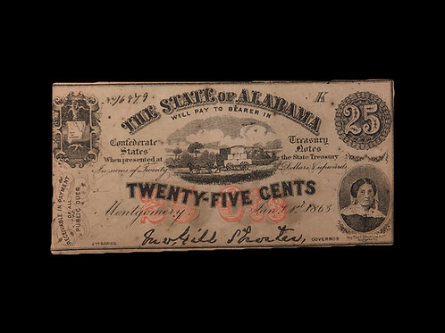 State of Alabama Twenty-Five Cents Note