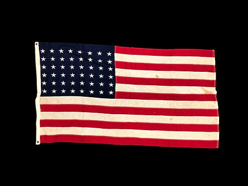 WW2 Era U.S. 48 Star American Flag