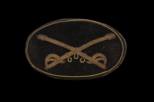 Early Civil War Embroidered Cavalry Officers Crossed Sabers