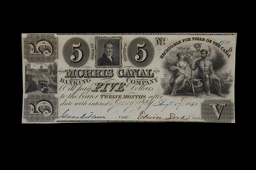 NEW JERSEY / JERSEY CITY 1841 FIVE DOLLARS