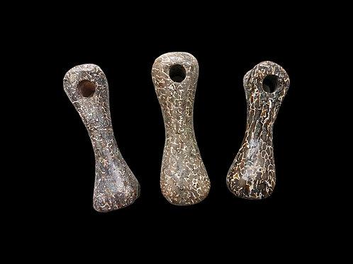 Polished Dinosaur Bone Pendants