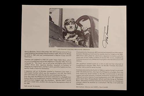 Lieutenant Colonel William B. Freeman Autograph