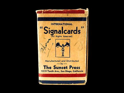 WW2 U.S. Navy Signal Cards - Ca. 1943