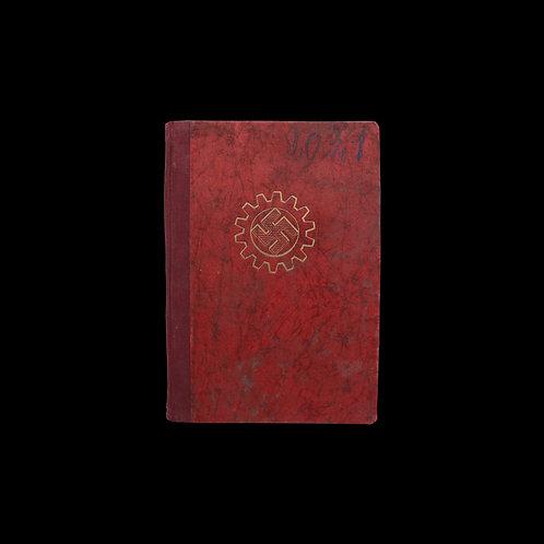 Original WW2 German Worker ID Book