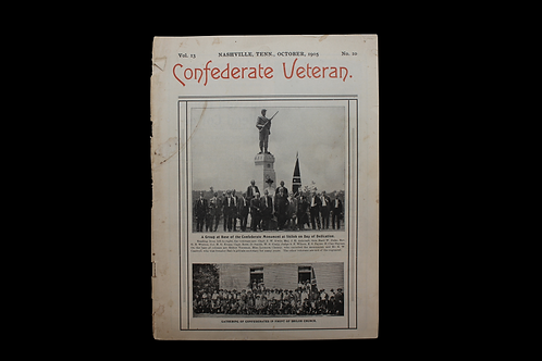 Confederate Veteran Magazine - OCT. 1905