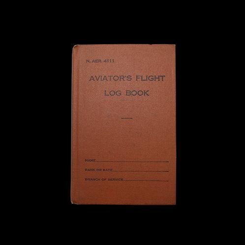 WW2 AVIATOR'S FLIGHT LOG BOOK