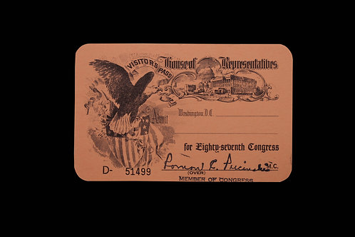 House of Rep. Visitor Pass