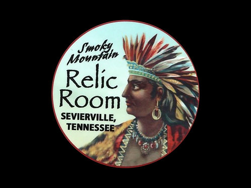 Smoky Mountain Relic Room Vinyl Sticker
