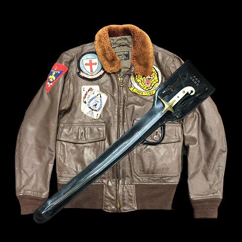 Vietnam War U.S.M.C. Jacket & Sword - I.D To Soldier