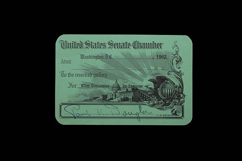 US SENATE CHAMBER - 1962 ADMIT CARD TO GALLERY