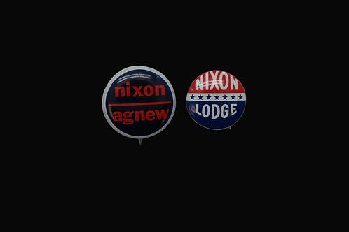 Two Vintage Nixon Campaign Pins