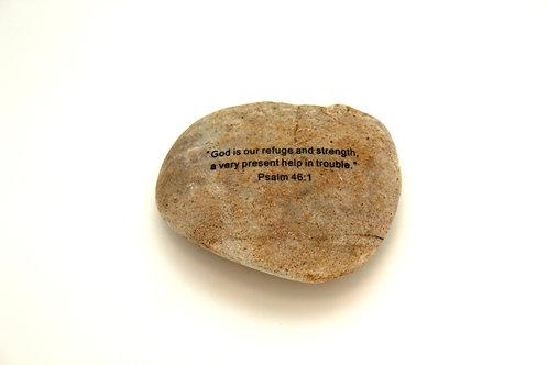 Psalms 46:1 Garden Stone