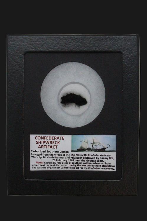 Confederate Shipwreck Carbonized Southern Cotton