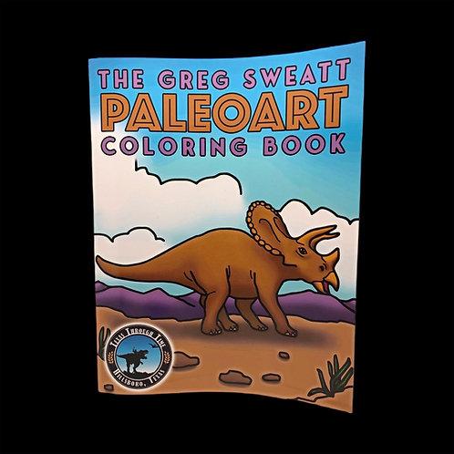 The Greg Sweatt Paleoart Coloring Book