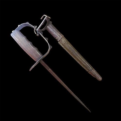 WW1 U.S. M-1917 Trench Knife / Original Scabbard