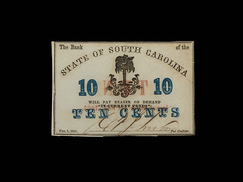 CONFEDERATE CURRENCY -TEN CENTS - SC