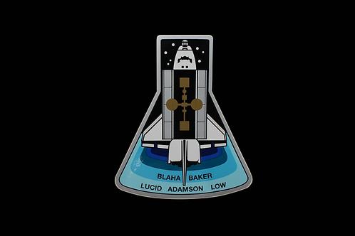STS-43 PATCH STICKER