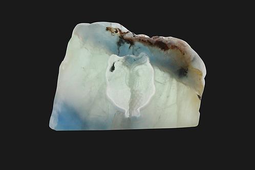 Fluorite Carving - Owl
