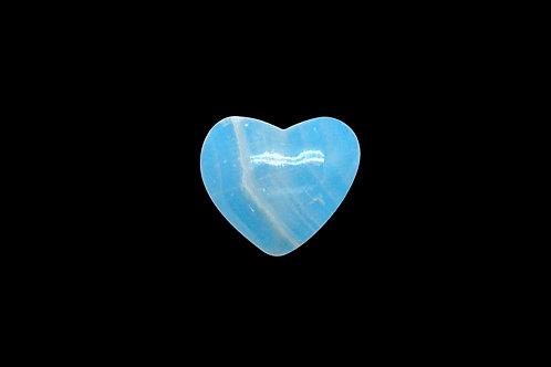 Blue Onyx Heart