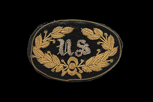 CW EMBROIDERED U.S. HAT BADGE