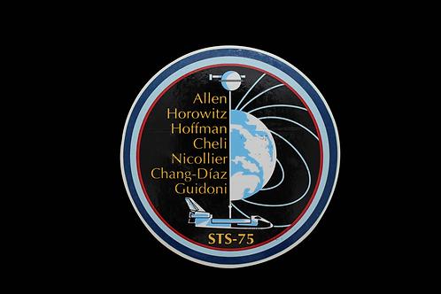 STS-75 CREW PATCH STICKER
