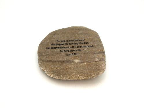 John 3:16 Garden Stone