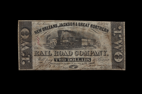 New Orleans 1861 Two Dollar Note