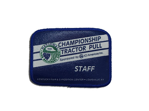 Championship Tractor Pull STAFF Patch