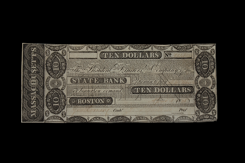 1836 Massachusetts Ten Dollar Note