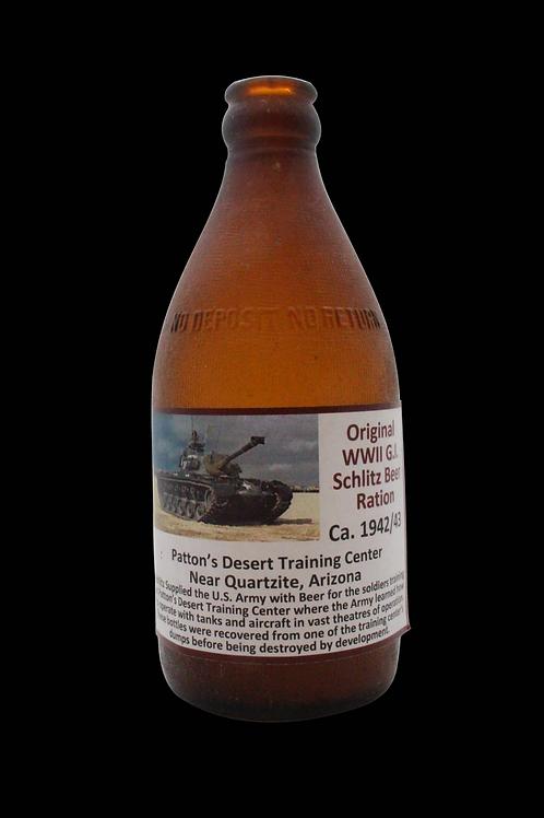 Original WW2 G.I. Schlitz Beer Ration