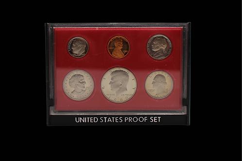 Set of 6 U.S. Coins in Display Case
