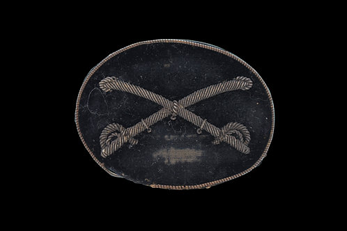 CIVIL WAR CROSSED SABERS CAVALRY OFFICERS HAT INSIGNIA