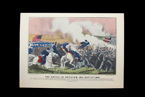 THE BATTLE OF ANTIETAM, MD - SEPTEMBER 17,  1862