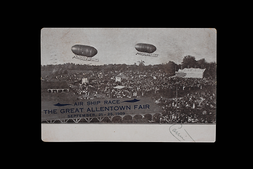 AIR SHIP RACE 1909 POSTCARD