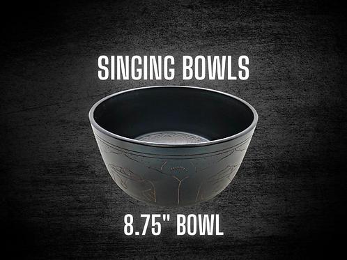 "Crystal Like Metal Bowl Straight Up - 8.75"" Singing Bowl"