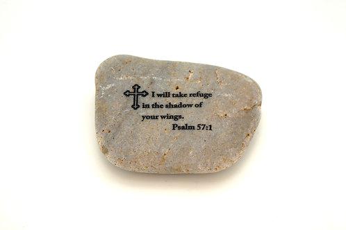 Psalms 57:1 Garden Stone