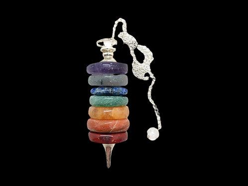 7 Stone Chakra Pendulum