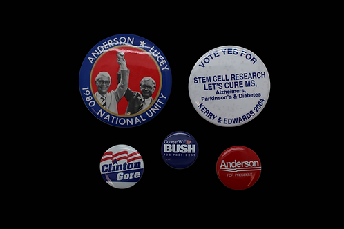 Six Vintage Campaign Pins